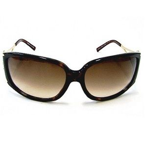 Salvatore Ferragamo Rhinestone Gold Sunglasses